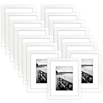 Amazoncom Americanflat 15 Pack 8x10 White Picture Frames