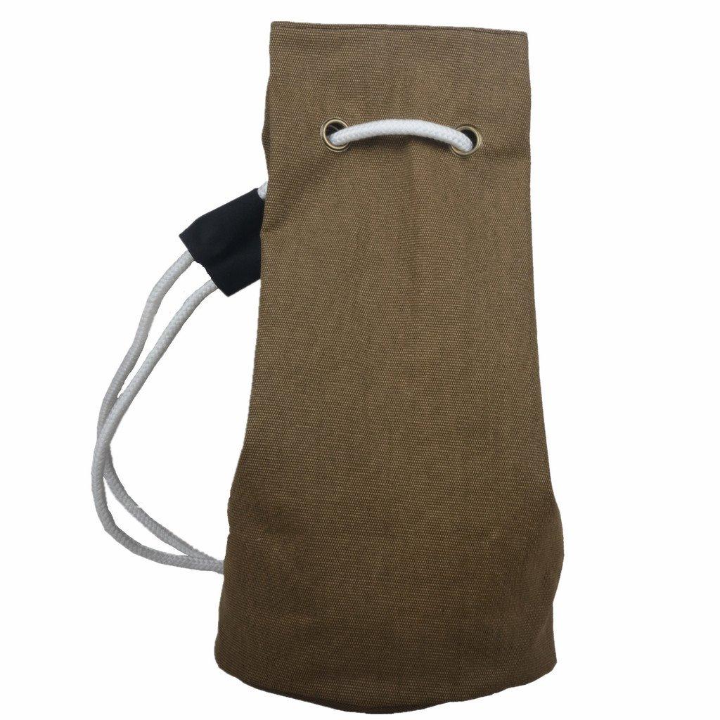 neosan Drawstringバックパック旅行袋パックCinchキャンバスジム文字列バッグ B01C7378ZC ダークカーキ