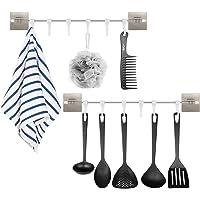 ShawFly Zelfklevende handdoekhouder, keukenschuifhaken, nagelvrij en traceless rijhaken, spatel lepel, wandmontage…