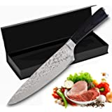 Baker Boutique Professional Chef Knife,8 Inch Premium Japanese Super Sharp Kitchen Knife,High Carbon Stainless Steel Chefs Knife with Rosewood Ergonomic Handle.