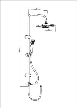 EISL DX12004 Juego de grifería para bañera y ducha: Amazon.es ...