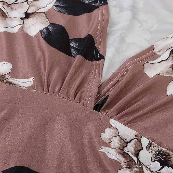 Vestidos Largos Mujer,Modaworld ❤ Vestido Ajustado de Manga Larga Estampado Floral Casual otoño Invierno de Mujer Vestidos de Fiesta de Noche Elegantes ...