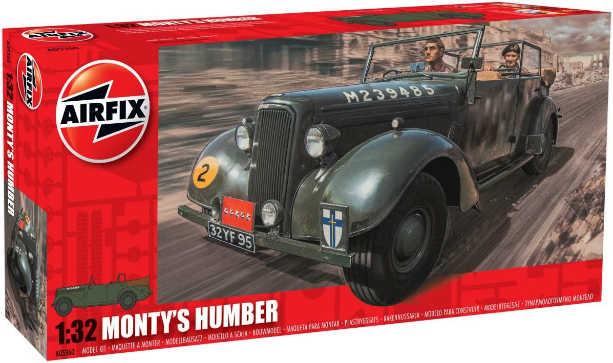 Airfix 1:32 Military Montys Humber Snipe Staff Car Model Kit