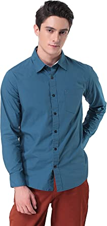 Pau1Hami1ton Camisa de Manga Larga Slim Fit para Hombre P-11