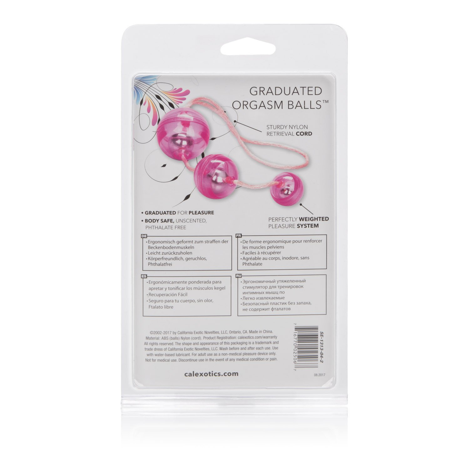 Amazon.com: CalExotics Graduated Orgasm Balls - Duotone Ben Wa Kegel  Weights - Pelvic Floor Exercise - Adult Sex Toys - Pink: Health & Personal  Care