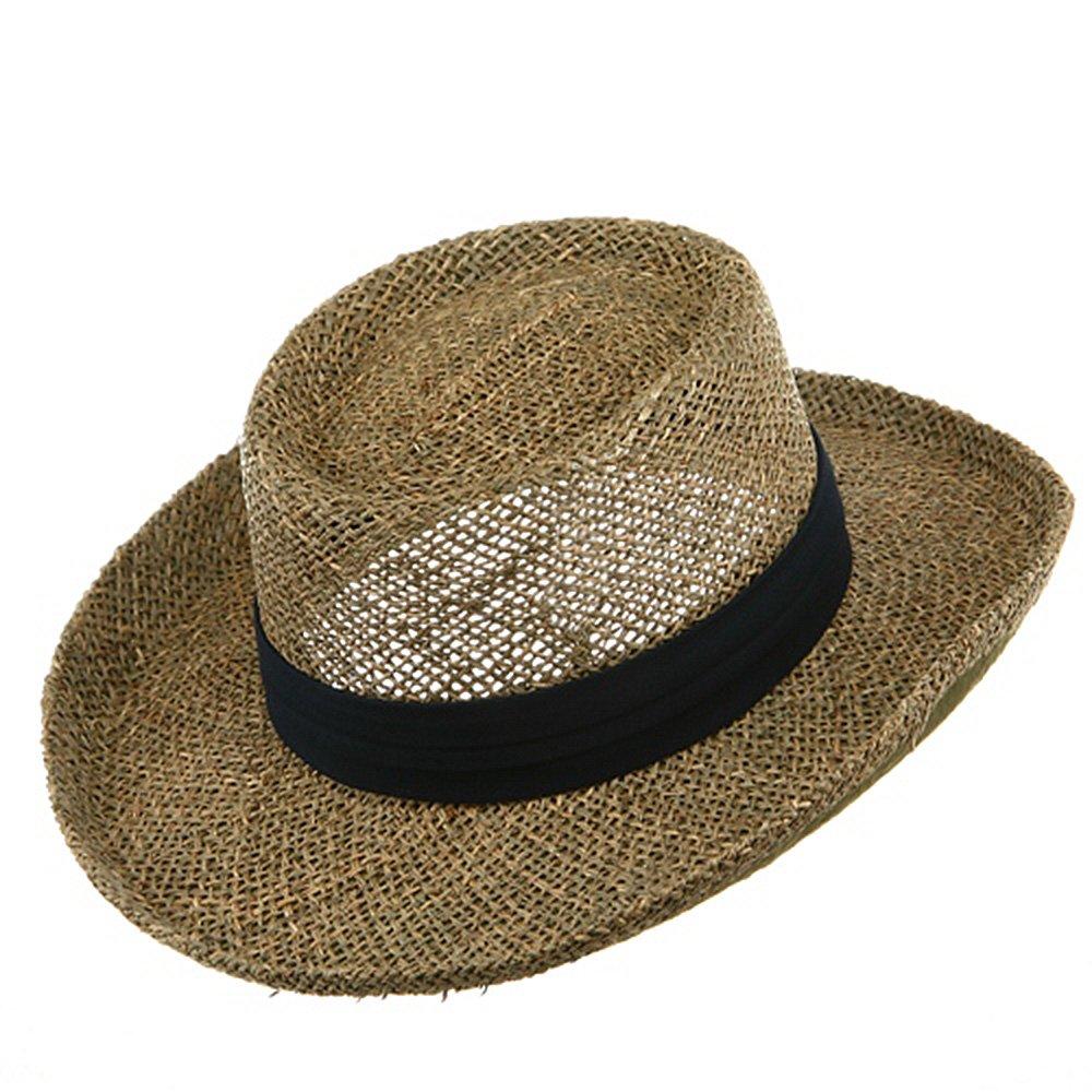13ccd44339954 Gambler Straw Hat - Navy Band OSFM at Amazon Men s Clothing store  Sun Hats