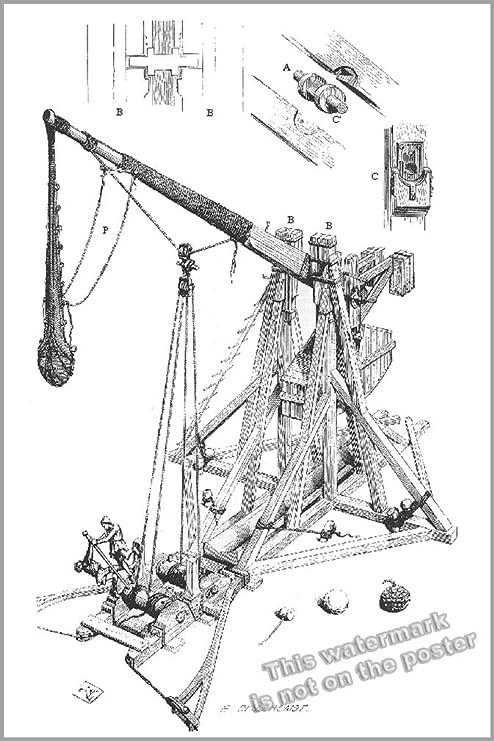 Amazon 20x30 Poster Medieval Trebuchet Counterweight