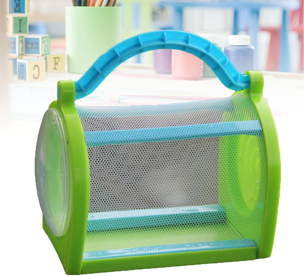 NUOBESTY Insect Cage with Handle Portable Bug House Butterfly Dragonfly Cage Kids Exploration Toys