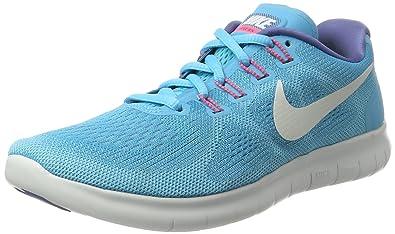 NIKE Free Run 2017, Chaussures de Running Femme, Bleu (Chlorine Off White-