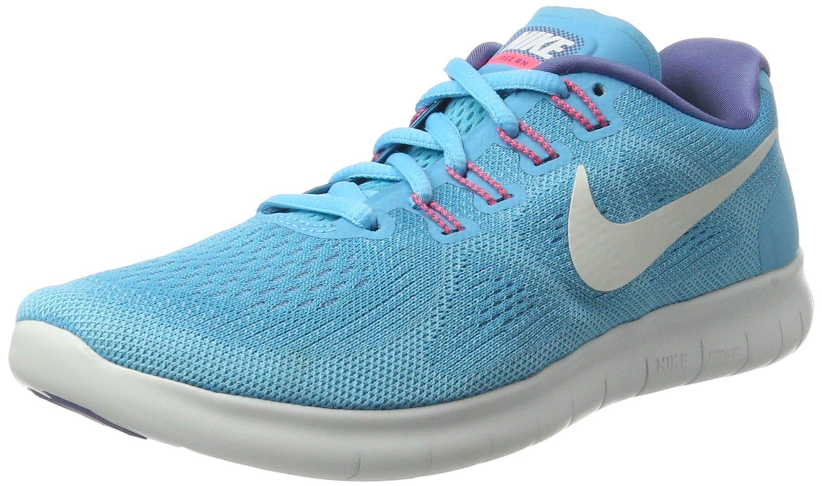 Nike Women's Free RN 2017 Running Shoe (6, Blue)
