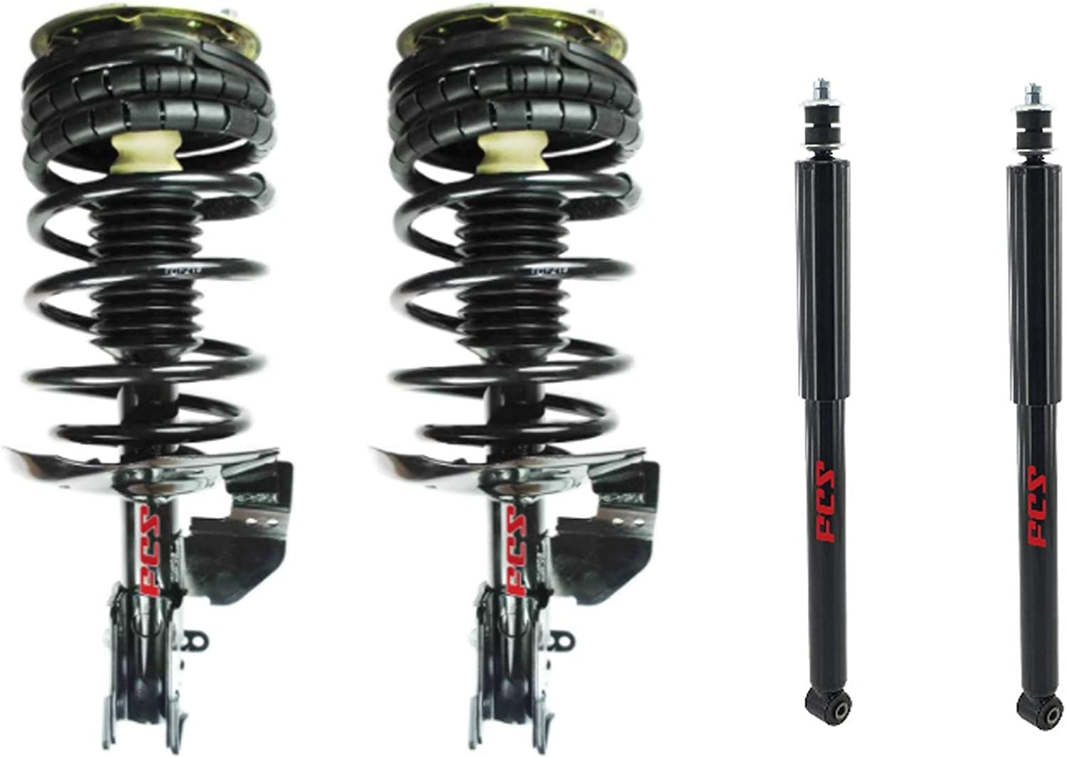 FCS Front Struts and Coil Springs Rear Shocks Kit For Buick Chevy Oldsmobile FWD