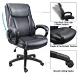 Mysuntown Executive Office Chair, Bonded PU Leather Swivel Chair for Big and Tall Users, Ergonomic High Back with Lumbar Support