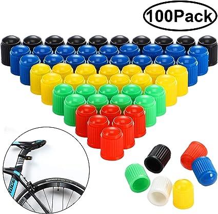 Hsei - Tapones de plástico para válvulas de neumáticos de Coche ...