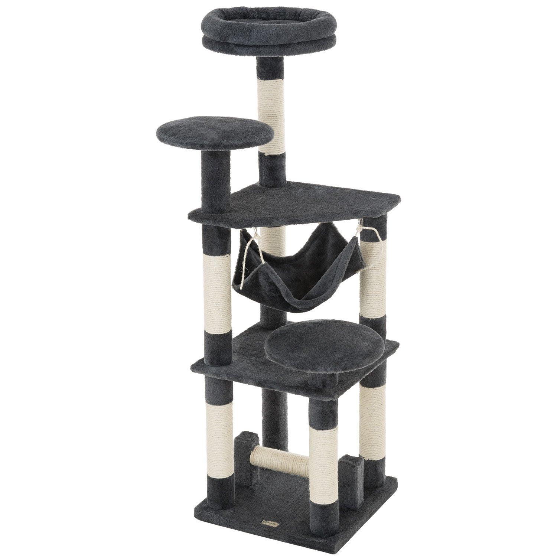 Ollieroo 52''H Cat Tree Tower Condo Furniture Scratching Post House Three Layers Kitten Condo Pet House (Dark Grey)