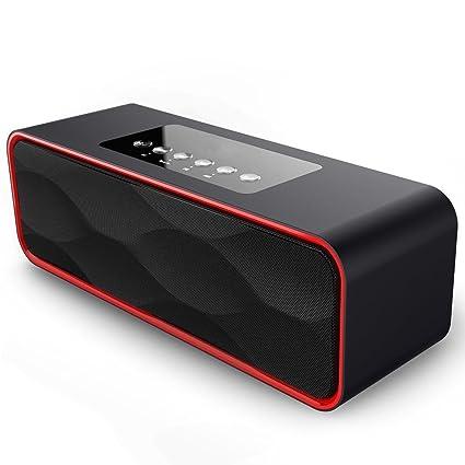Portátil Estéreo Altavoz Bluetooth, ZEPST inalámbricos Bajo estupendo Bocinas con HD Audio y Manos Libres, Radio FM y TF Ranura de la Tarjeta, 10 Play ...