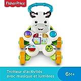Fisher-Price Mon Trotteur Zèbre Parlant pour apprendre à marcher avec musique et activités d'éveil, pour bébé de 6 mois et plus, DLD96