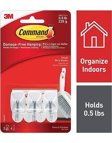 Command - Ganchos y tiras adhesivas para colgar utensilios de cocina (1 unidad con 3