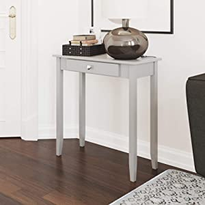 DHP Rosewood Tall Sofa Console Table, Multi-purpose Small Space Table, Grey