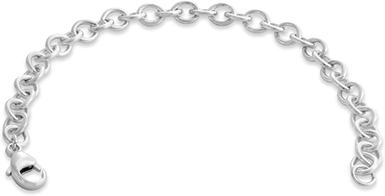 .925 Sterling Silver Childrens Cross Charm Bracelet 6.00 inches