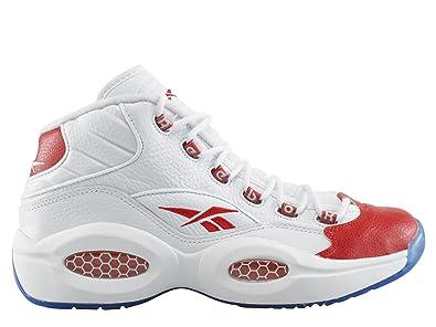 Reebok question Mid Allen Iverson Chaussures - - blanc/rouge,