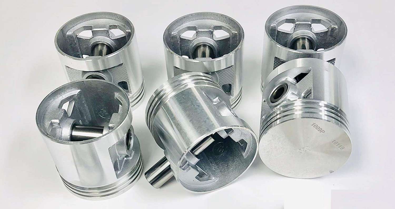+.030 3.5925 Bore Dia. Flat Top Pistons /& Rings Combo Kit compatible with 1941-62 Chevy 235 6 Cylinder.