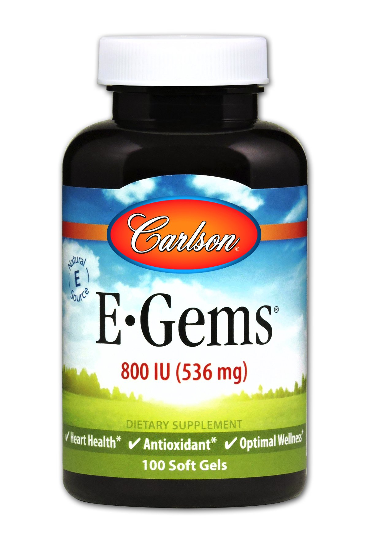 Carlson E-Gems 800 IU, Vitamin E, Heart Health (100 Soft Gels)