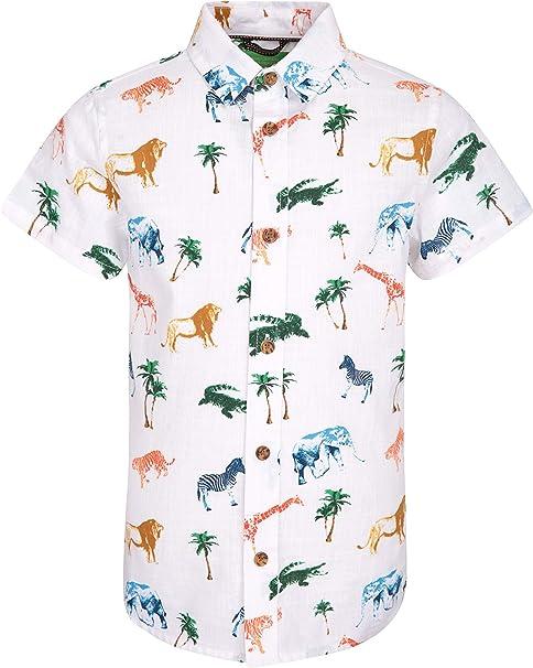 Mountain Warehouse Camisa Safari para niños - 100% de algodón ...