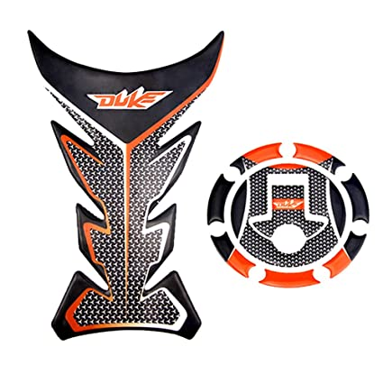 Amazon.com: Sticker Decal Gas Fuel Tank Protector Pad + Fuel Gas Tank Cap Protector Pad For KTM 125 200 390 DUKE: Car Electronics