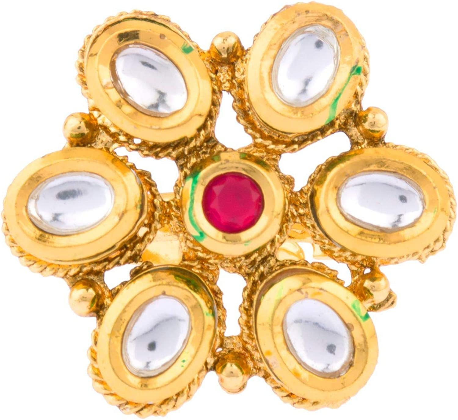 Gemstones 925 Silver Oxydized Adjustable Rings for Girls or women Ethnic Rings Handmade Indian Jewellery Valentine/'s Day gift for her.