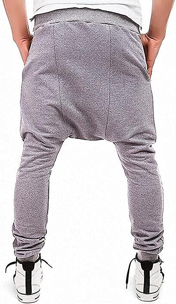 Kebinai handsome Mens Joggers Sweatpants Harem Running Jogger Bottom Pants