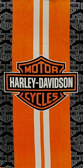 Serviette De Plage Harley Davidson.Officielle Harley Davidson Blanc A Rayures Serviette De Bain