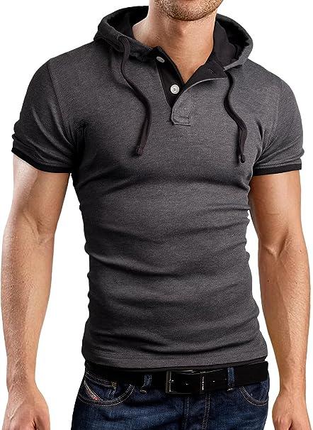 Grin & Bear GB105 camiseta para hombre antracita / negro L: Amazon.es: Ropa y accesorios