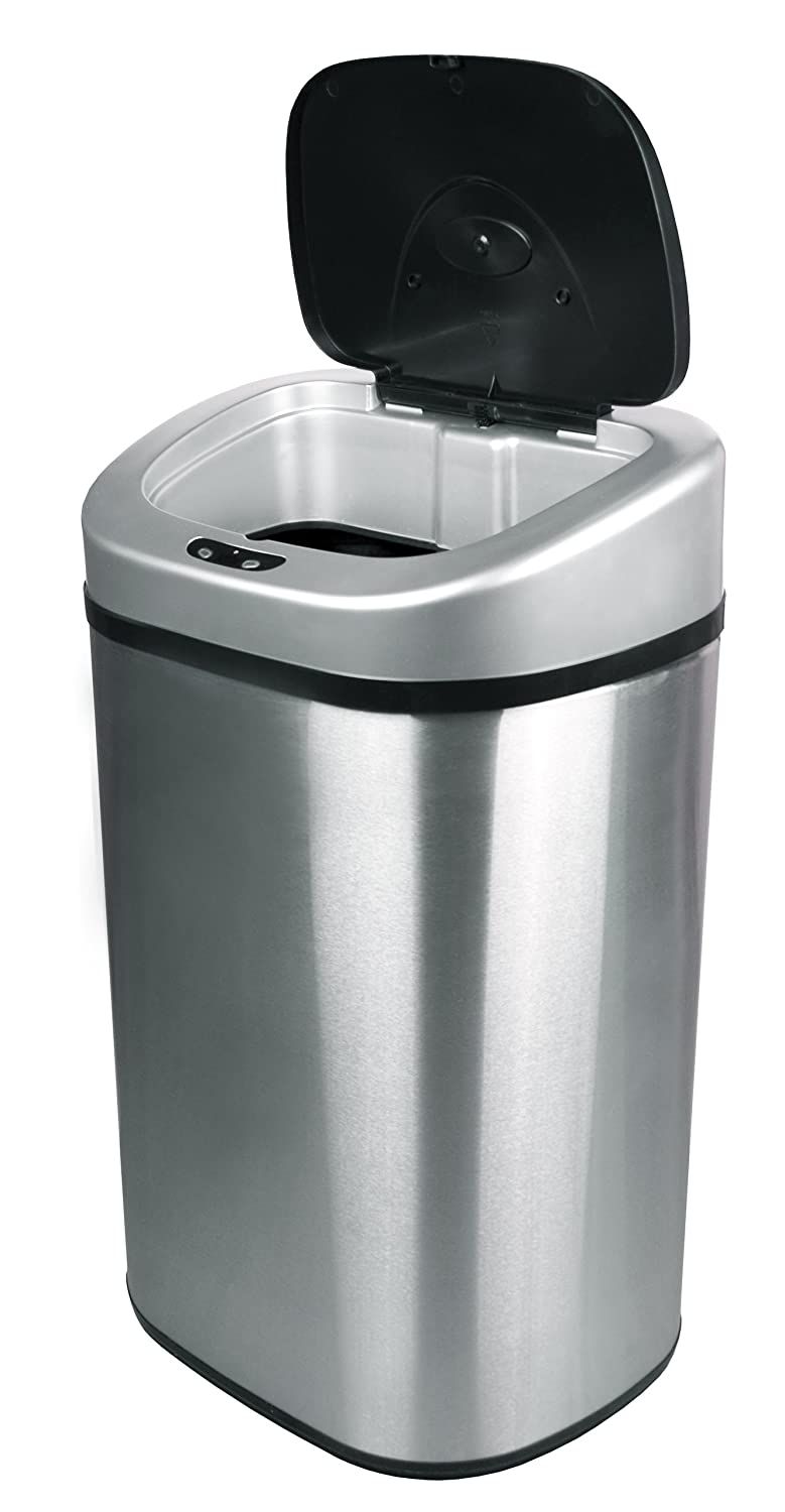 Nine Stars Infrared Touchless Steel Trash Can