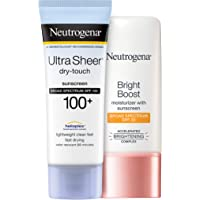 Neutrogena Ultra Sheer Dry-Touch Water Resistant and Non-Greasy Sunscreen Lotion 3 fl. Oz With Bright Boost Facial…