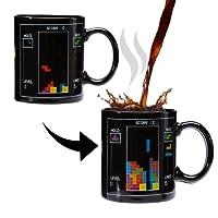 Incutex tasse chaleur magique tasse Couleur de changement Tasse chaleur sensible Tasse mug – tetris