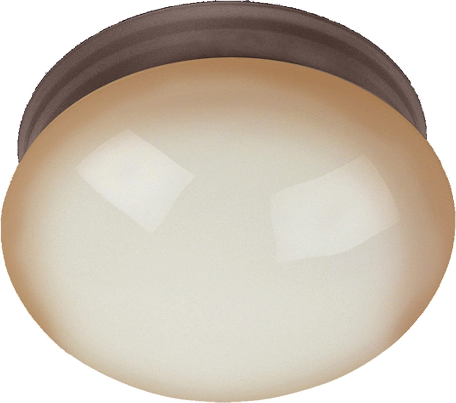 50W Max. Glass Shade Material MB Incandescent Bulb 2400 Rated Lumens Wilshire Glass 2900K Color Temp Oil Rubbed Bronze Finish Maxim 5887WSOI Essentials 2-Light Flush Mount Standard Dimmable Damp Safety Rating