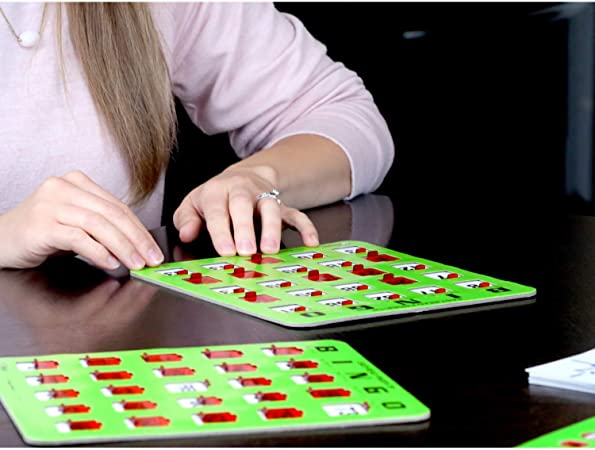 Regal Games Extra Thick Stitched Woodgrain Quick Clear Rapid Reset Shutter Bingo Cards