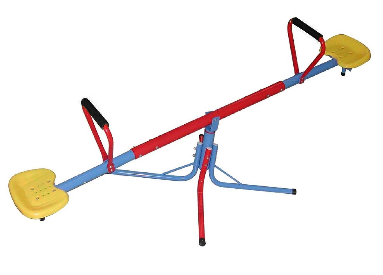 Sportplus SP-GAM-209-Balançoire Test de sécurité des Jouets Selon EN71 Balançoire à Bascule Mixte Enfant, Multicouleur