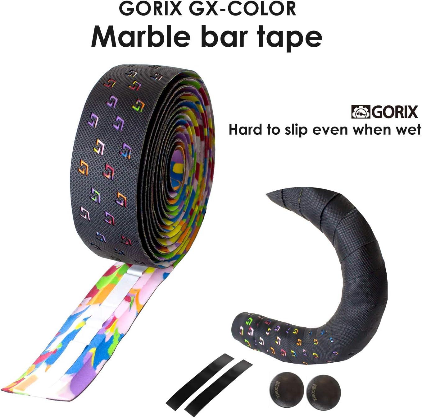 Details about  /GORIX Bar Tape Handlebar Grip Wrap+2 Bar Plug Rose Pattern Road MTB Bicycle BARA