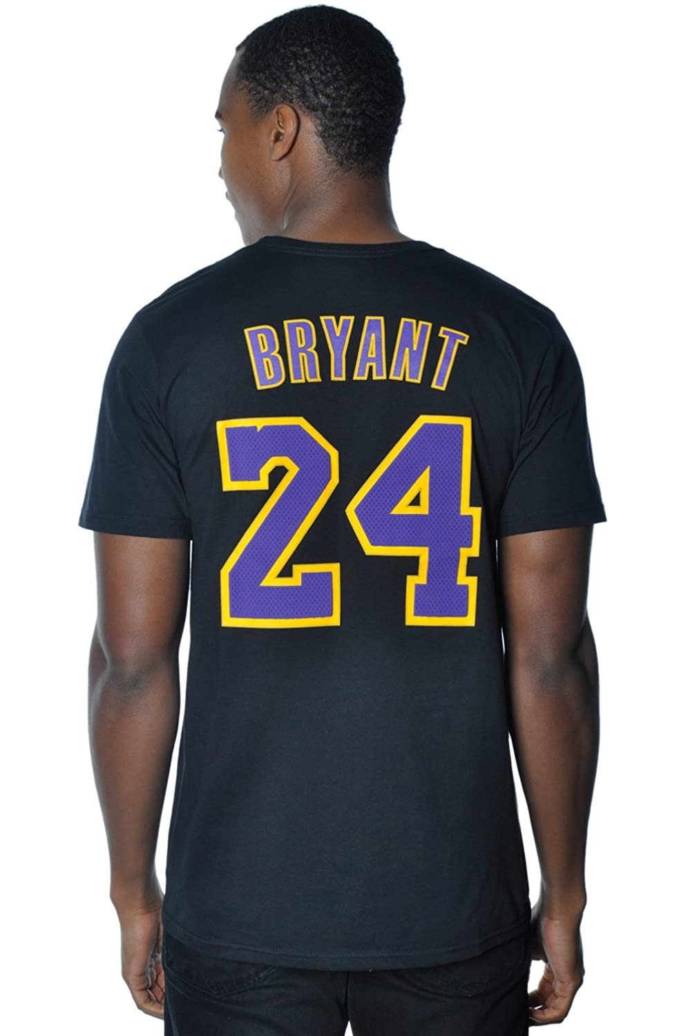 57e5c4421a2 Amazon.com : adidas Kobe Bryant Los Angeles Lakers Black/Purple Jersey Name  and Number T-Shirt : Sports Fan T Shirts : Clothing