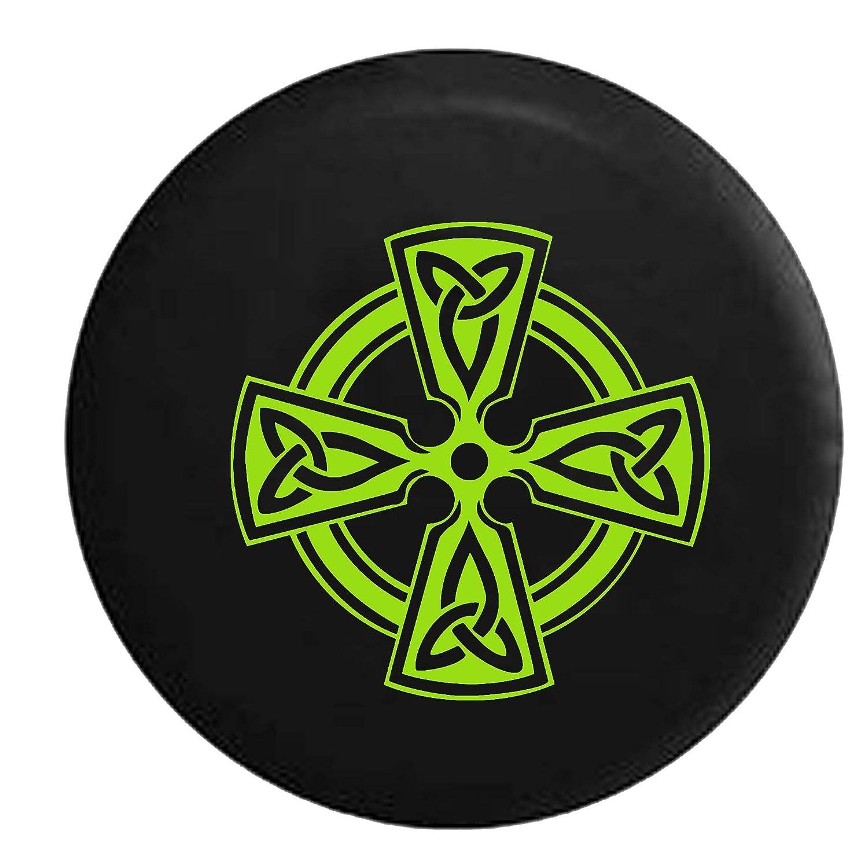 Celtic Cross Knot Irish Shield Warrior Jeep Spare Tire Cover Vinyl Black 29 in American Unlimited