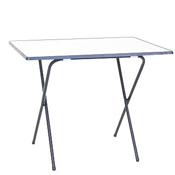 Balkontisch klappbar kunststoff  Amazon.de: greemotion Scherentisch in Weiß/Blau, Gartentisch 60 x 80 ...