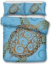 helengili 3D Bedding Set Sea Turtle 3D Print Bedding Bedclothes Duvet Cover Sets bedlinen Comforter Cover 100% Microfiber Full