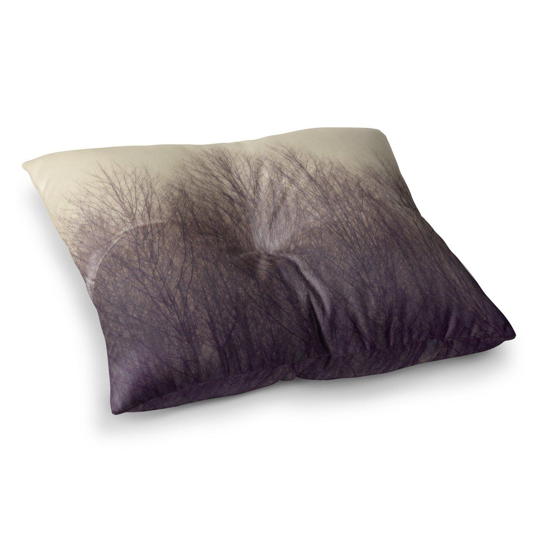 23 x 23 Square Floor Pillow Kess InHouse Robin Dickinson Forest Beige Brown