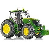Siku/Wiking - 7321 - Véhicule Miniature - Modèle À L'Échelle - Tracteur John Deere 6210R - Métal - Echelle 1/32