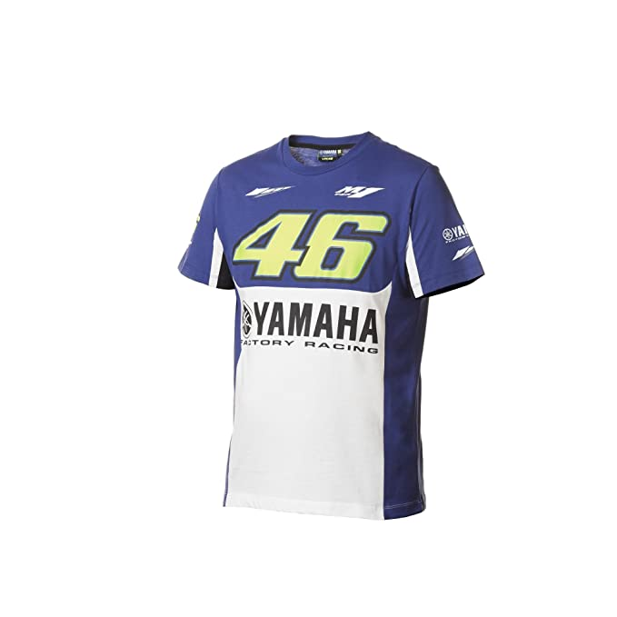 Yamaha Electronics - Camiseta - para Hombre Multicolor Blue/White 2XL