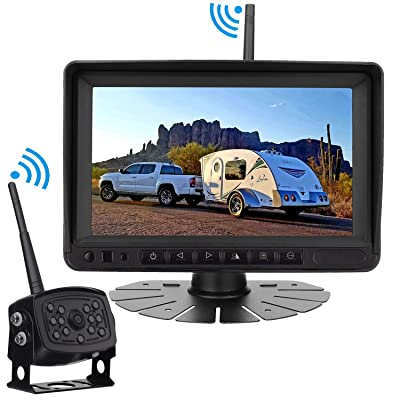 """Rohent Digital Wireless Backup Camera High-Speed Observation System for Car/Pickup/RV/Truck/Trailer/Camper/5th Wheel with 7""""HD Monitor IP69K"""