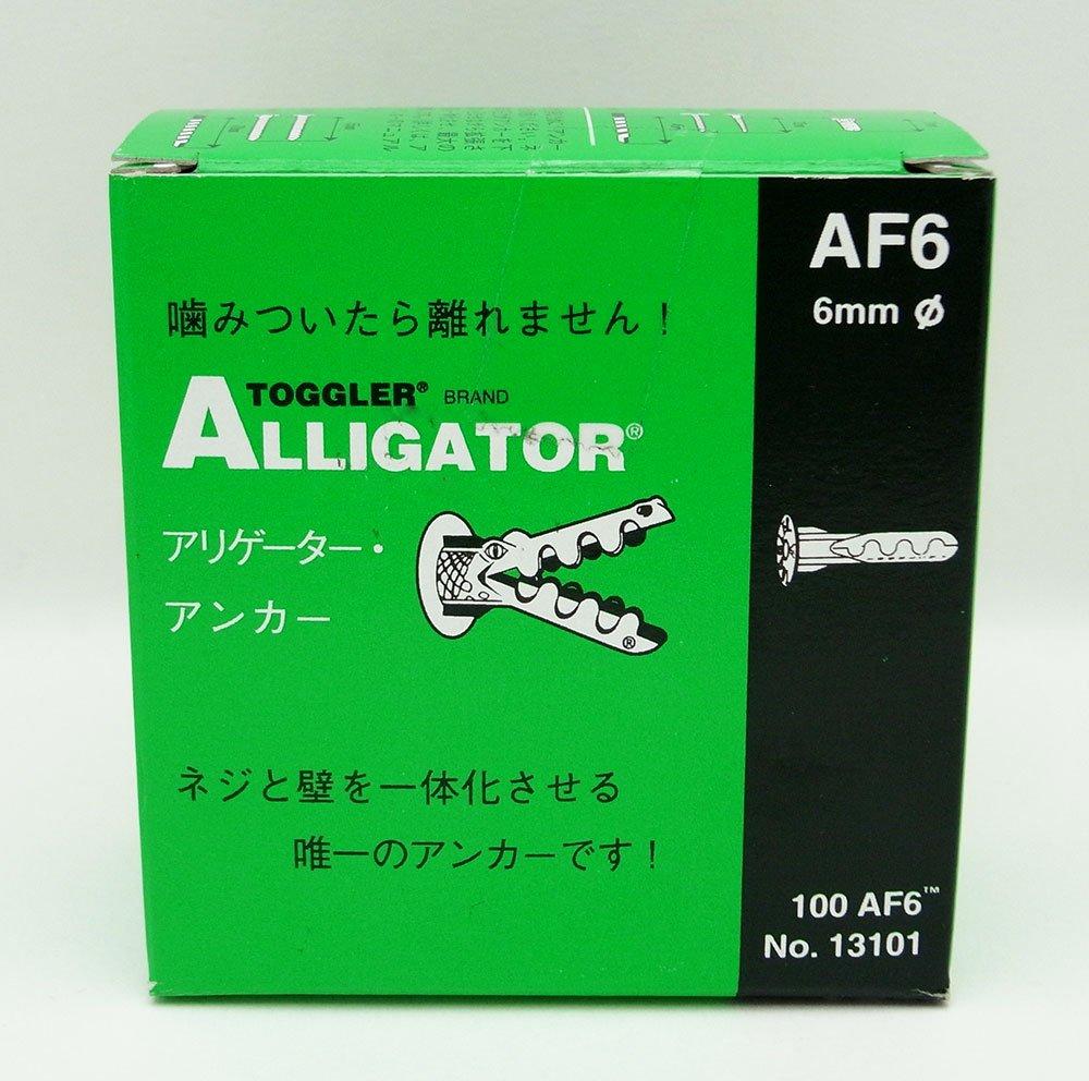 TOGGLER ALLIGATOR AF6 Flanged Anchor, Polypropylene, Made in US, For #6 to #12 Fastener Sizes (Pack of 100) by TOGGLER (Image #3)
