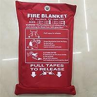 LUCKY CLOVER-CC Mantas contra Incendios,Manta Fuego Fibra De Vidrio con 10 Años De Garantía,180 * 120CM
