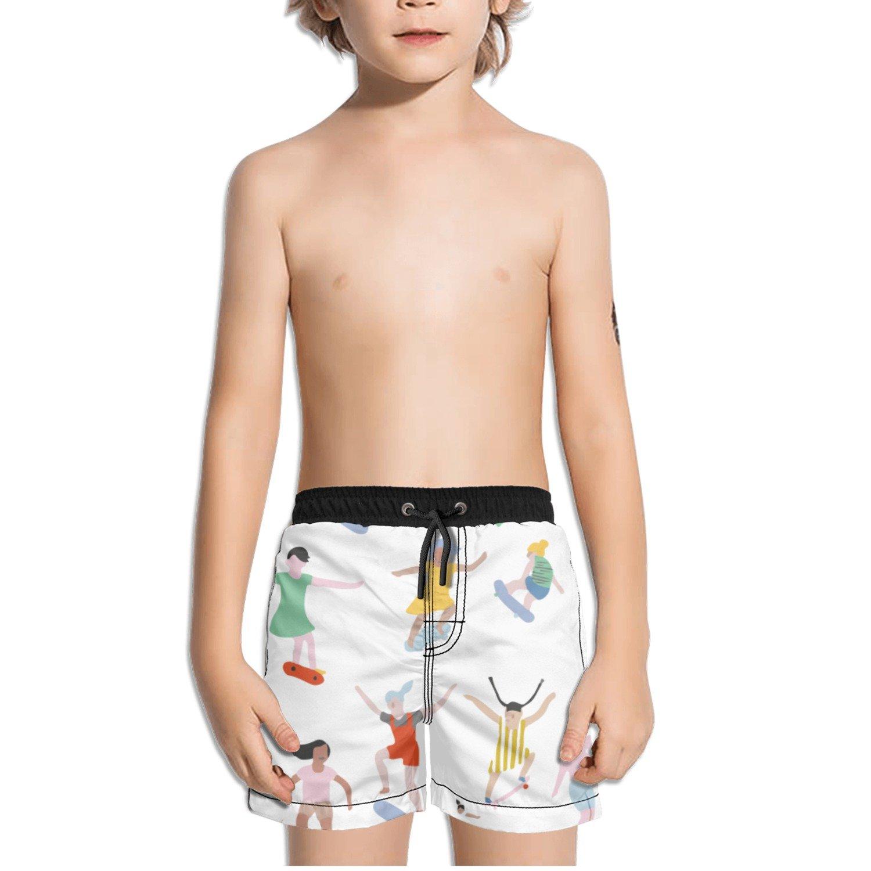 Ouxioaz Boys Swim Trunk Clipart Skateboarding Beach Board Shorts